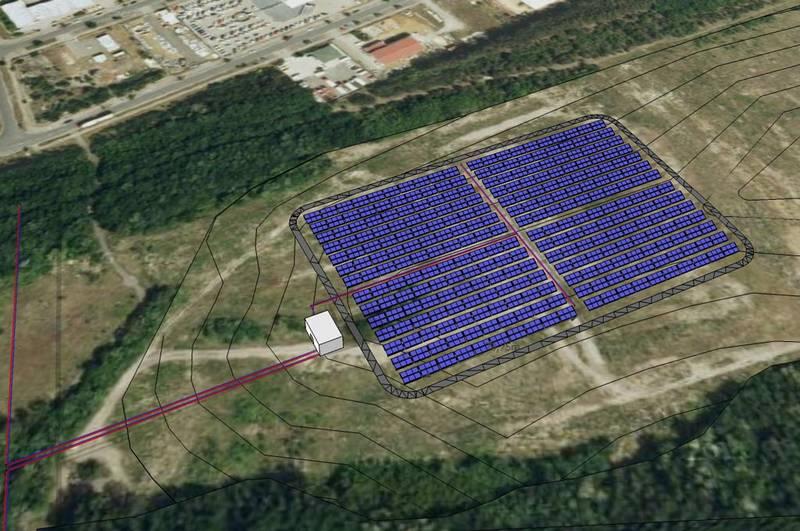 Solare Großanlage in Senftenberg
