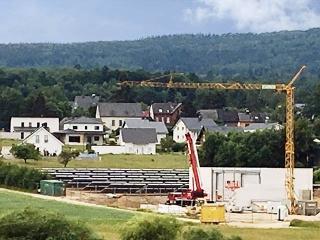 Baustelle der solaren Großanlage